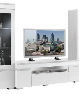 TV Wandmeubel Ketty White – Hoogglans Wit