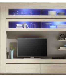 Tv Wandmeubel Palmira Light 279 Cm Breed – Licht Eiken