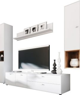 Tv Wandmeubel Set Design 2 – Wit