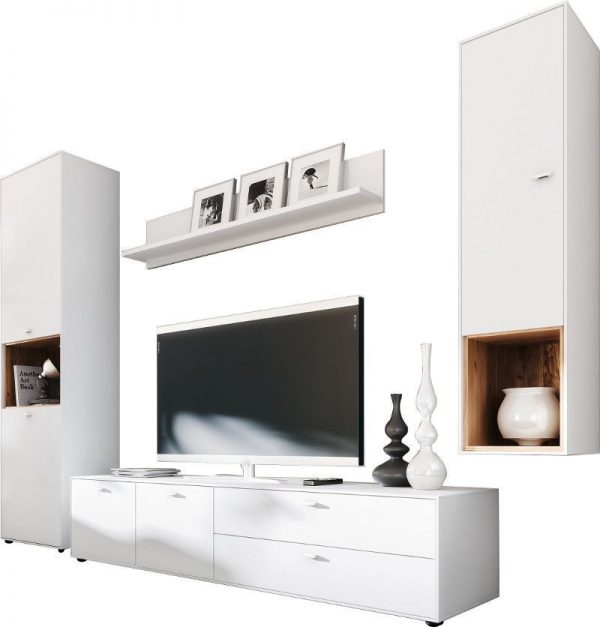 Tv wandmeubel set Design 2 - wit