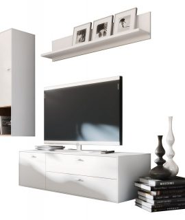 Tv Wandmeubel Set Design 4 – Wit