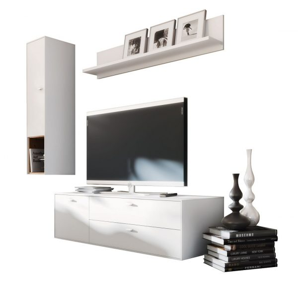 Tv wandmeubel set Design 4 - wit