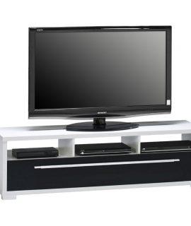 Zerra Tv Meubel – Wit Met Hoogglans Zwart