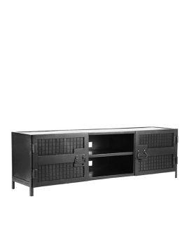 LABEL51 – Tv-Meubel Gate 160x40x50 Cm – Industrieel – Zwart