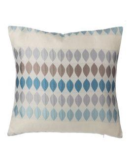 Sierkussen Druppelpatroon Blauw/grijs 45×45 Cm