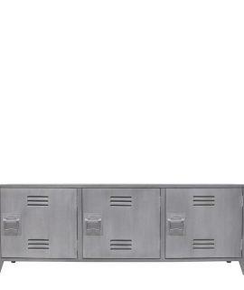 HK Living Tv Meubel Locker Hout Grijs 57x160x40cm