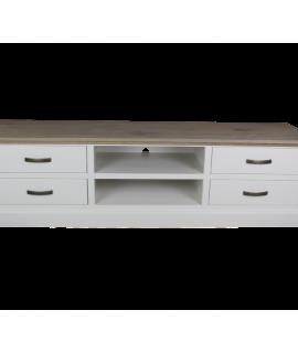 TV-dressoir Provence – Grijs Eiken/wit