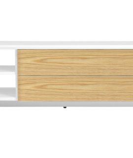 Tenzo TV Meubel Profil – L180 X B47 X H44 Cm – Mat Wit – Eiken
