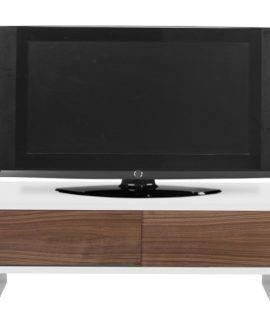 TemaHome TV Meubel Slide 2-Deurs – 198x45x48 – Mat Wit – Walnoot