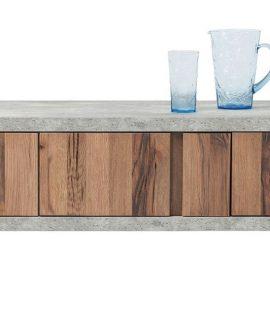 Kare Design TV Meubel Seattle – L158 X B46 X H46 Cm – Eiken – Beton Look
