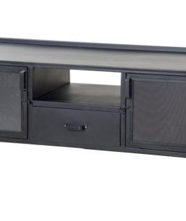 Eleonora TV Meubel Industrie B130 Cm 2-Deurs 1-Lade – Zwart