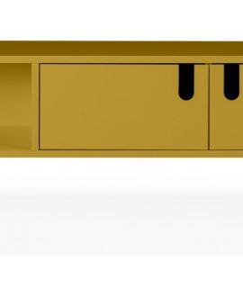 Tenzo UNO TV-meubel 2-Deurs – 1-Vak – 137x40x50 – Mosterdgeel