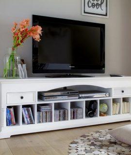 Novasolo Provence Media Console – H60 Cm X B180 Cm X D45 Cm – Wit