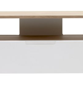 24Designs TV-Meubel Grindsted 1 Lade/1 Vak – 120x40x50 – Wit – Eiken White Wash