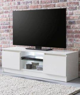 24Designs Fedor TV Meubel 2-Deurs 120x39x40 – Hoogglans Wit