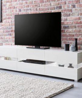 24Designs Fedor TV Meubel 4-Deurs 176x40x45 – Hoogglans Wit